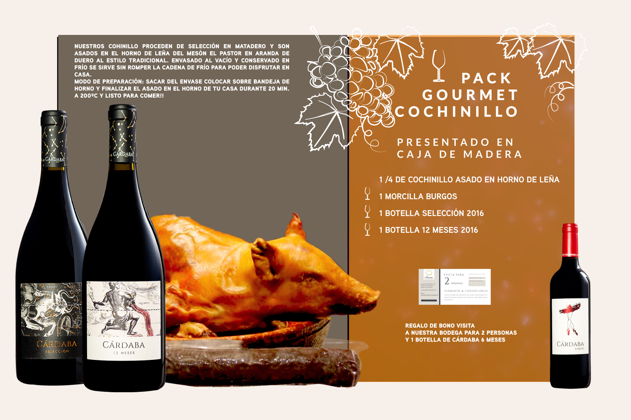 Pack GOURMET COCHINILLO